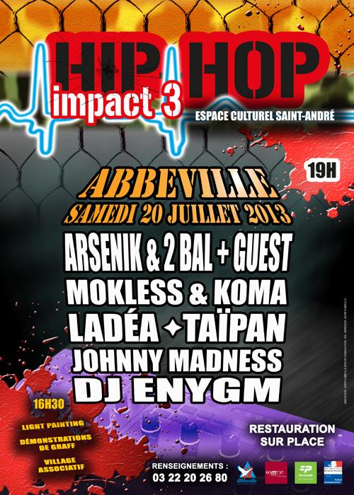 L'affiche Hip Hop Impact 3 à Abbeville