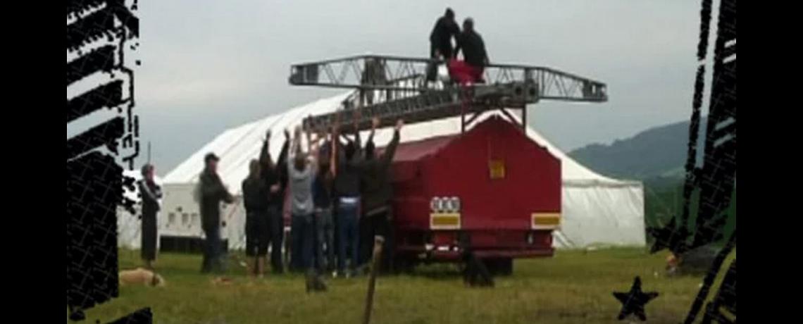 Bassline Circus Big Top Setup