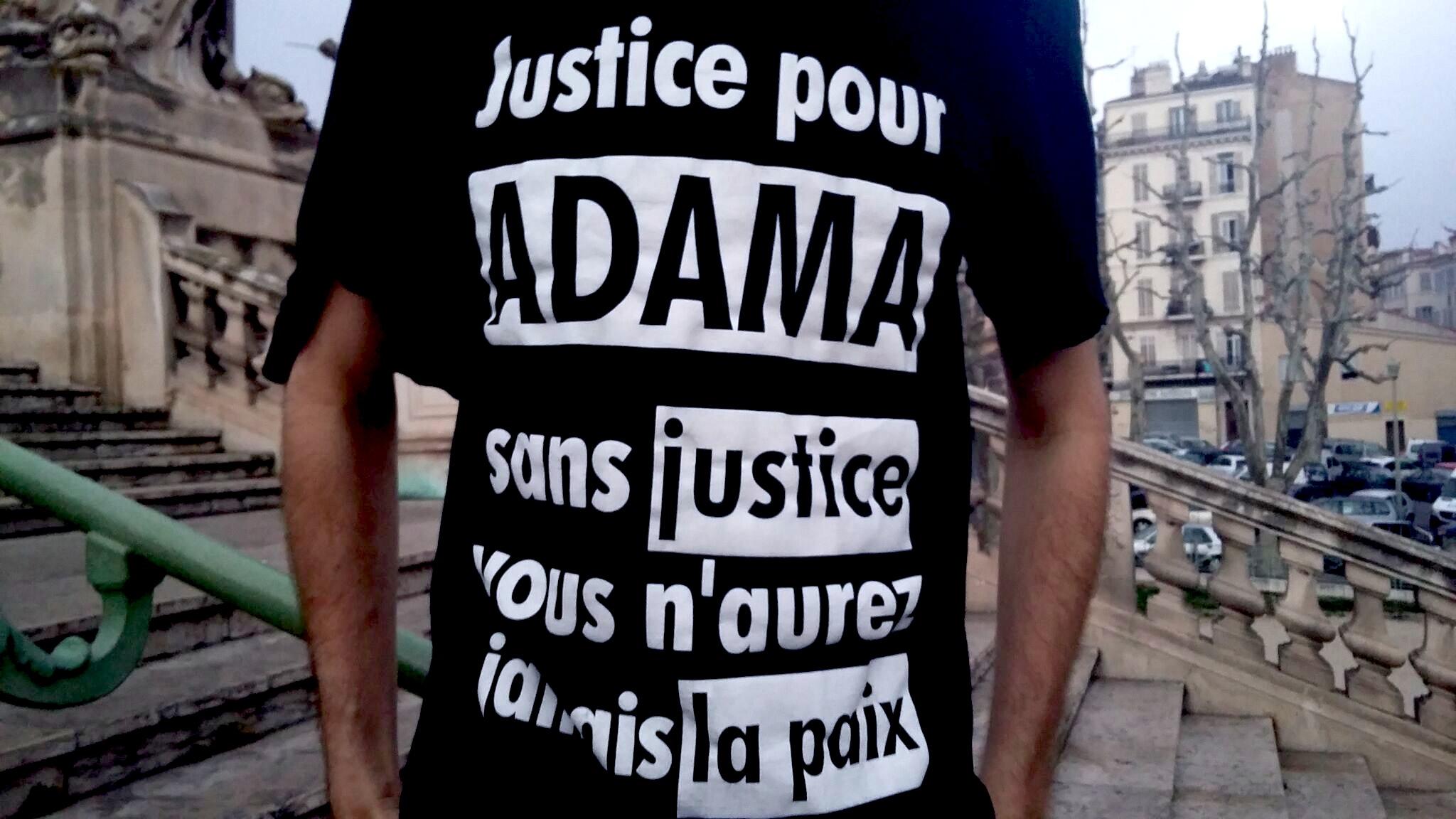 Justice pour ADAMA Marche Marseille 17/03/2017