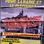 Affiche week-end antifasciste à Marseille